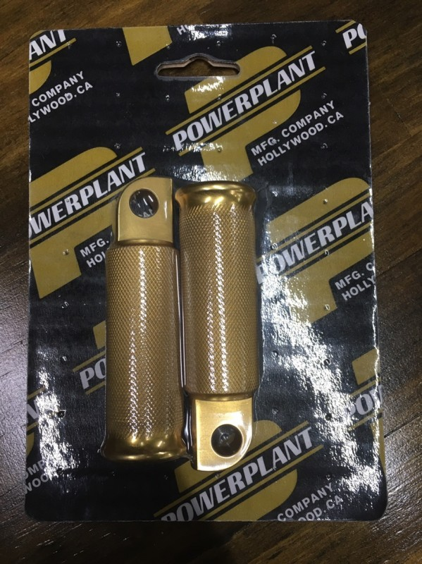 Power Plant Motorcycles SHORTY PEG GOLD